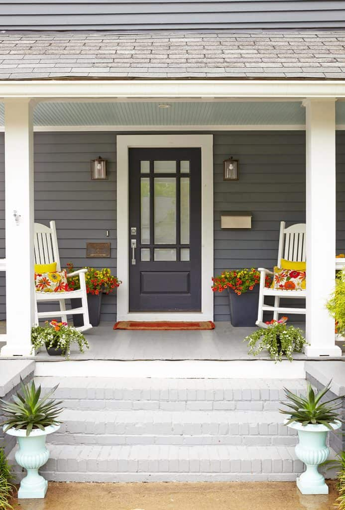 Freshen up your homes curb appeal with new chairs. #curbappeal