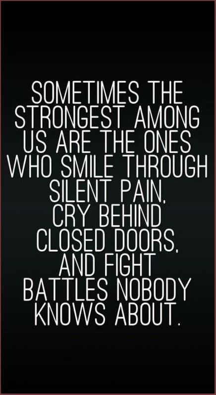 Sometimes the strongest among us are
