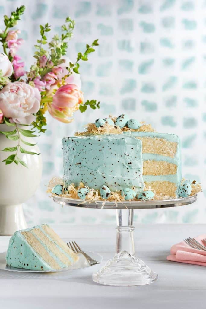 Speckled Malted Coconut Cake - perfect for Easter