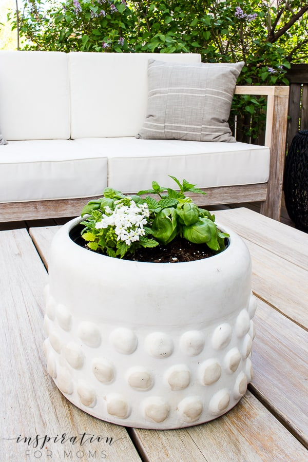 DIY Summer Outdoor Tabletop Herb Garden