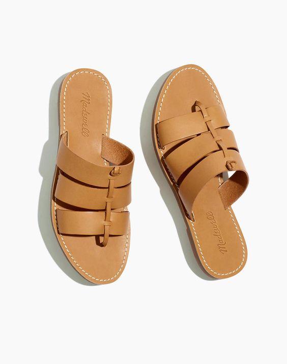 boardwalk knotted slide sandal - also comes in black