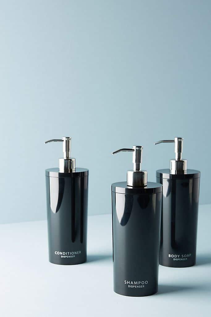 minimalist shower bottles