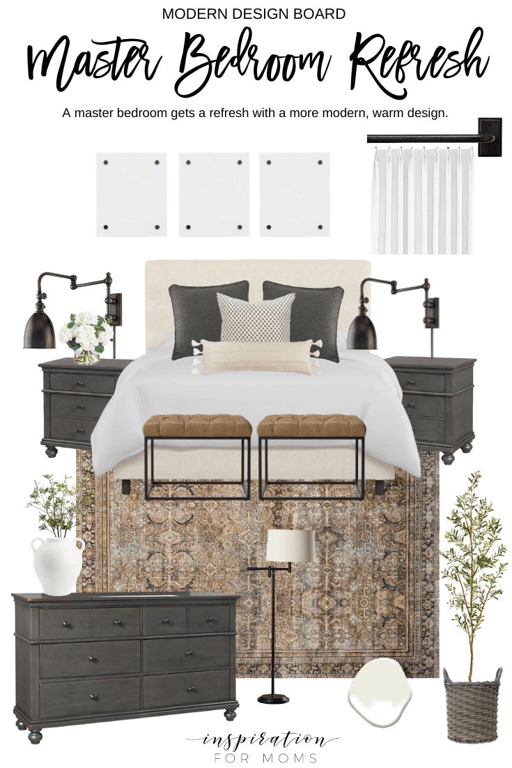 Master Bedroom Decor Ideas And Design Board Inspiration For Moms