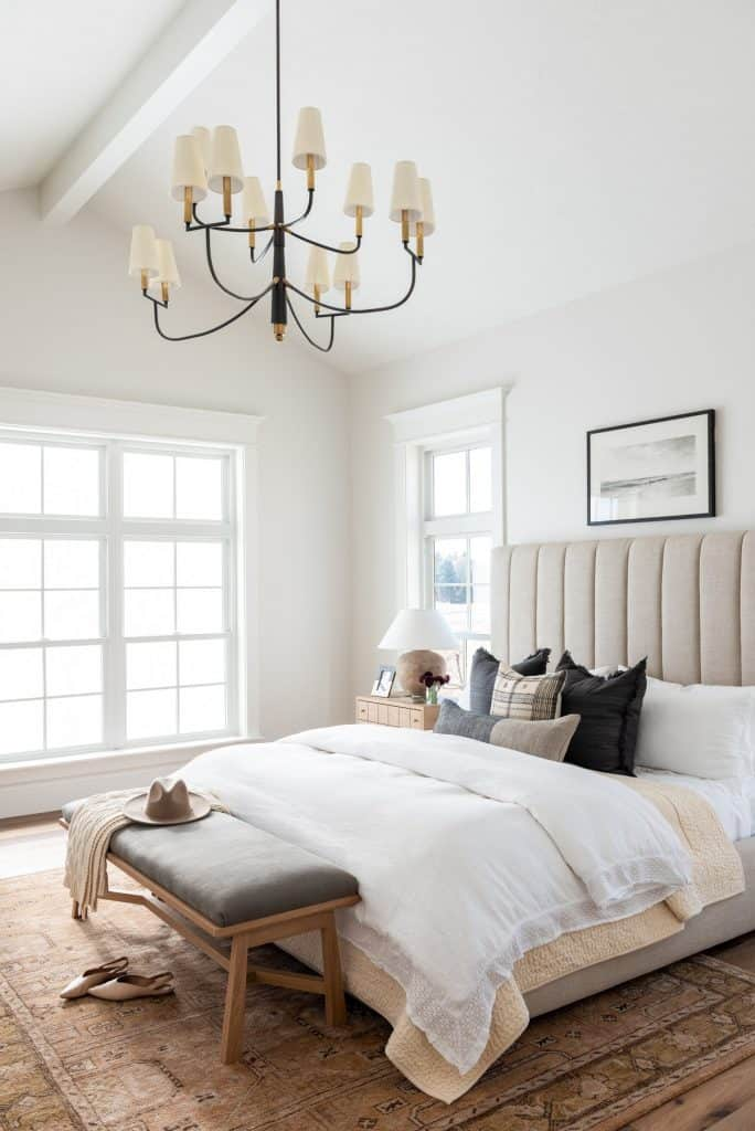 Come see what master bedroom decor ideas inspired me to create my own design board for our new bedroom look! #masterbedroom #designboard #moodboard #decor