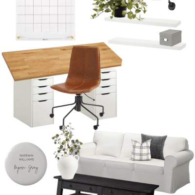 It's time to make some changes to our basement. See lots of inspiration behind my new basement office/family room design!
