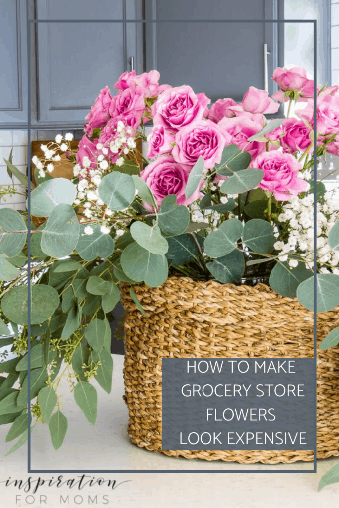 A beautiful floral arrangement doesn't have to cost a ton. Learn how to make grocery store flowers look expensive with my tips and tricks! #grocerystoreflowers