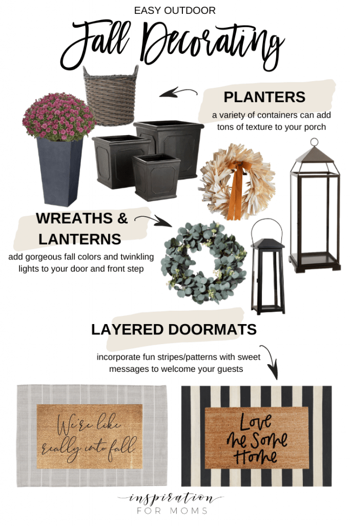 Fall decorating outdoors can be simple or complex as you want - I just want to give you lots of ideas! #falldecoratingoutdoors #falldecor