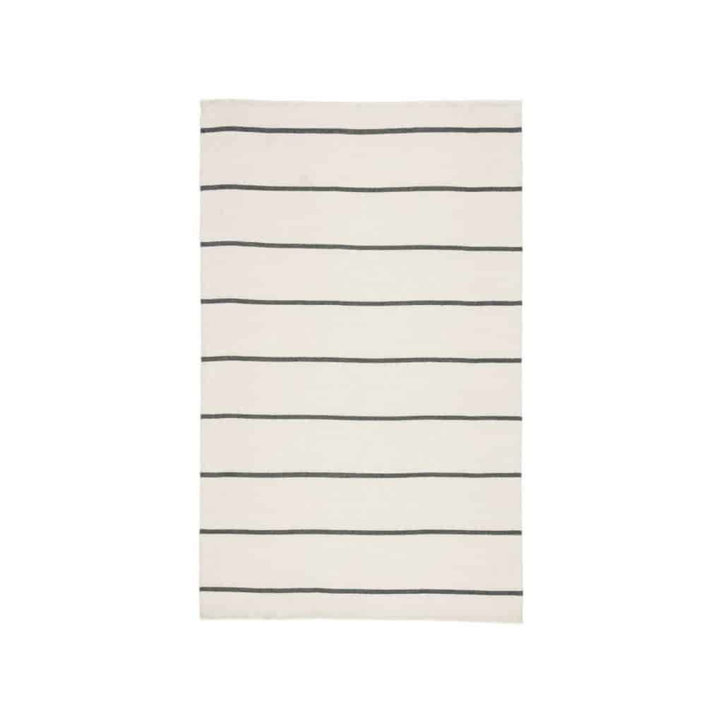 Lorelai Rug - love the ivory and gray stripes