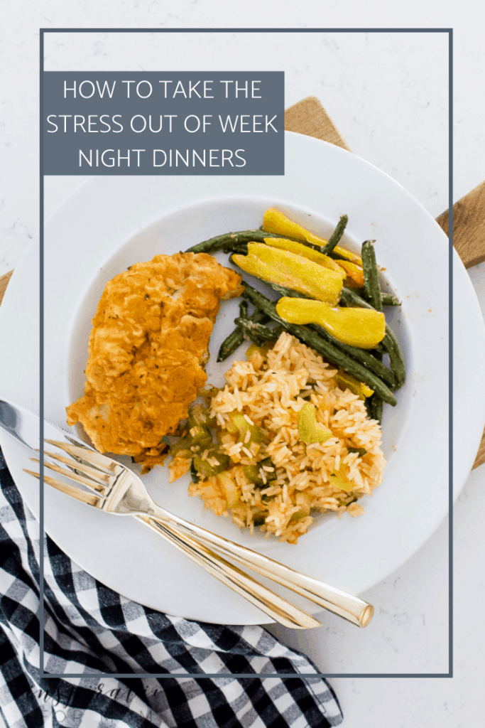"""Stop the weeknight dinner madness! Learn why this mom never stresses over that famous 5 o'clock question, """"Mom, what's for dinner?"""" #dinner"""