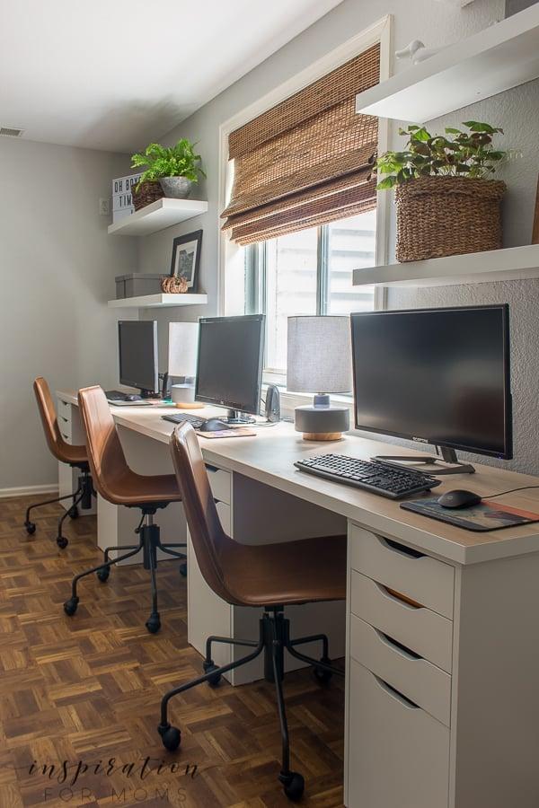 Basement Home Office Reveal