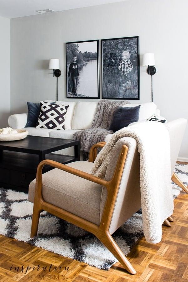 Basement Living Room Reveal