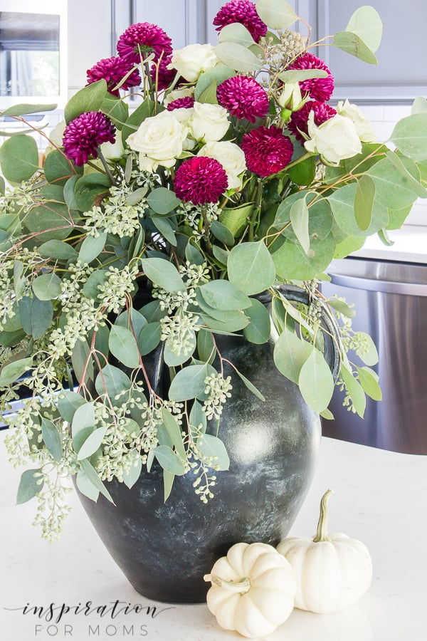 Fall Floral Arrangement with Mums