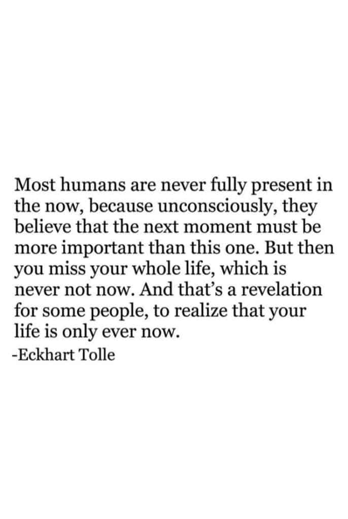 Most humans are never fully present