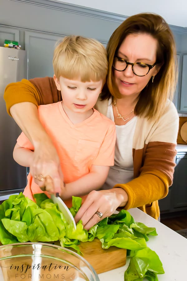 Get in the kitchen with your kids! These tips for cooking with kids will make the experience a success for both you and your mini cook!#tipsforcookingwithkids #cookingwithkids