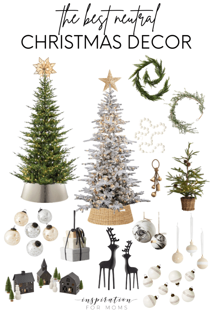 Find the best neutral Christmas decor now before everything sells out. And since it's all neutral - you can use it for years to come! #neutralchristmasdecor #christmasdecor #fauxchristmastrees #holidaydecor