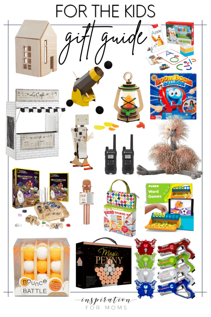 This roundup of gifts for kids includes ideas that are perfect for any little boy or girl in your life! #kidsgiftguide #giftguideforkids