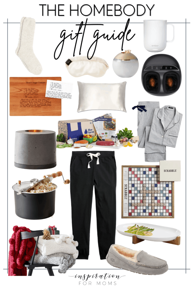 This roundup of gifts for the homebody includes ideas perfect for anyone who loves to be at home! #giftguide #giftsforthehomebody #giftideas