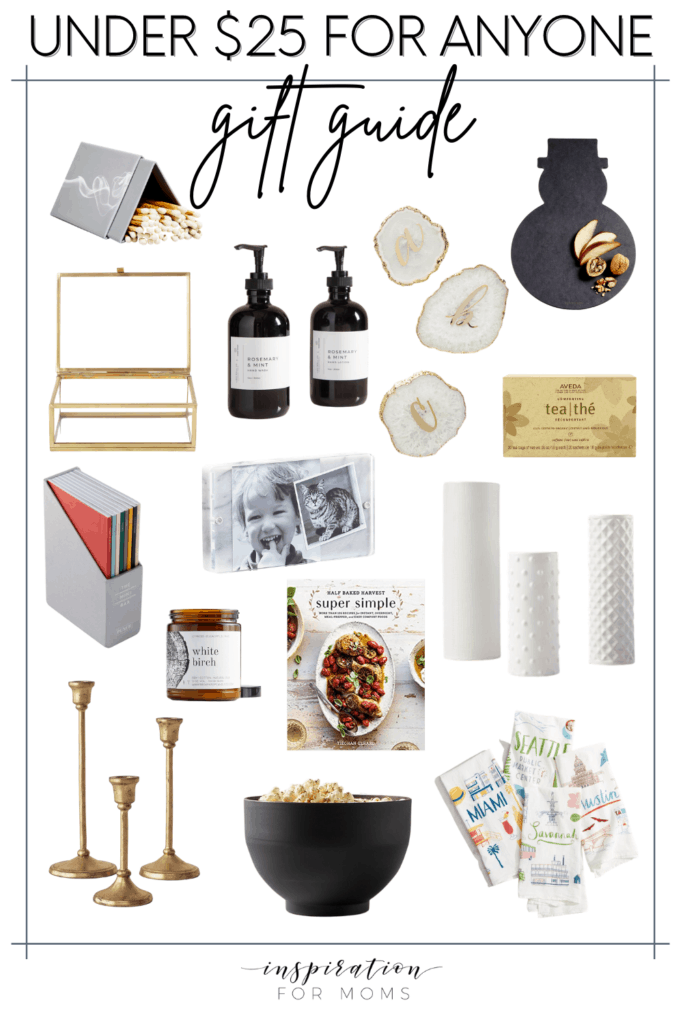 These gifts under $25 are perfect for anybody on your holiday list!#giftforanybody #holidaygiftsunder25 #giftsunder25 #under25giftguide