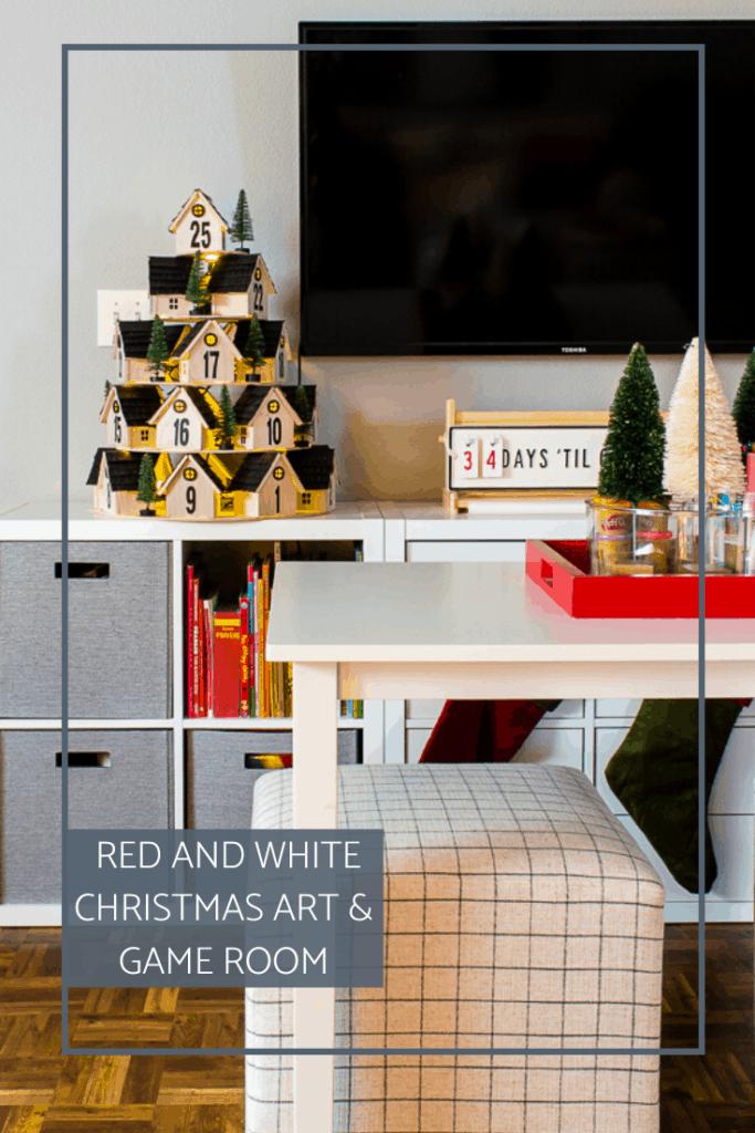 Welcome to our Christmas Art and Game Room and the first Christmas Home Tour of the season! #christmashometour #kidchristmasdecor