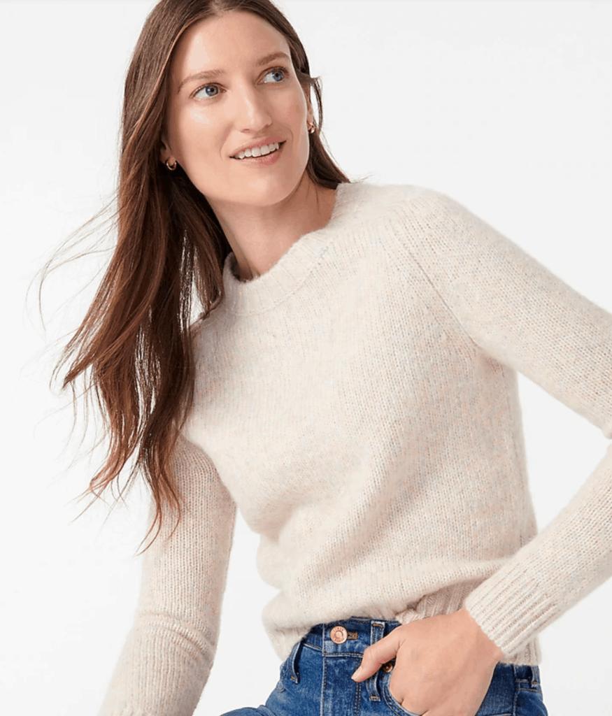 alpaca-blend crewneck sweater - perfect for fall
