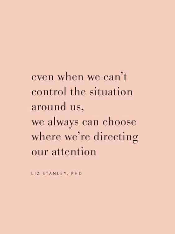 even when we cant control the situation