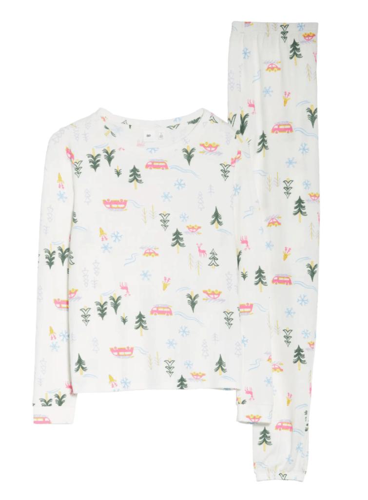 comfy print pajamas