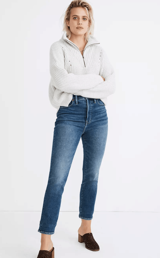 perfect vintage jeans in maplewood wash