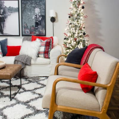 Enjoy a fun holiday tour featuring Christmas in the basement - lot's of festive inspiration!#holidayhometour #christmashometour #holidaydecor