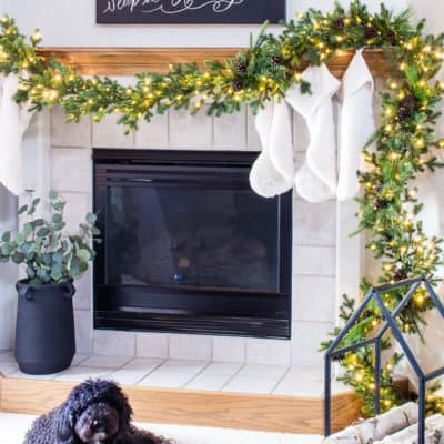 Come see our cozy neutral Christmas home tour and get inspired with easy ways to add a little extra holiday twinkle to your home.#hometour #christmashometour