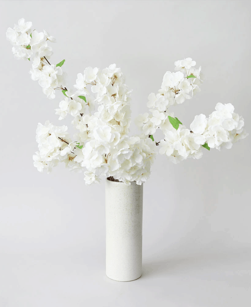 faux cherry blossom white