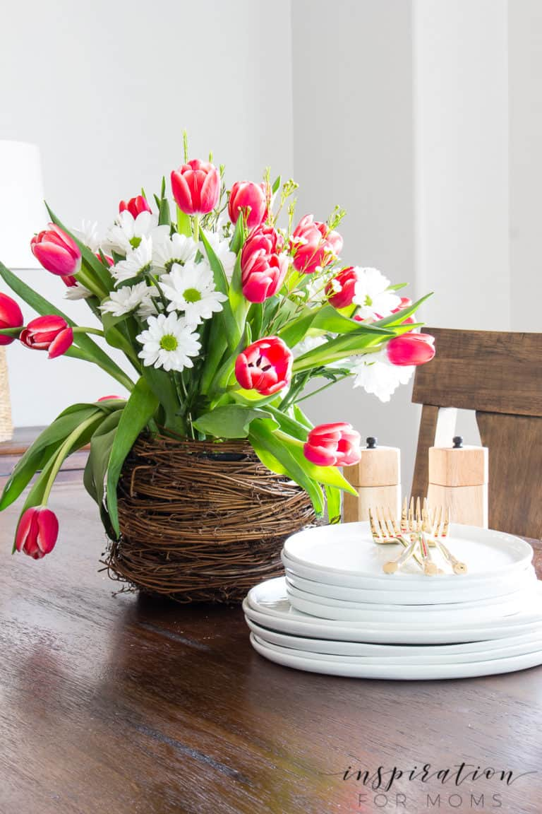 How to Create a Grapevine Spring Nest with Tulips
