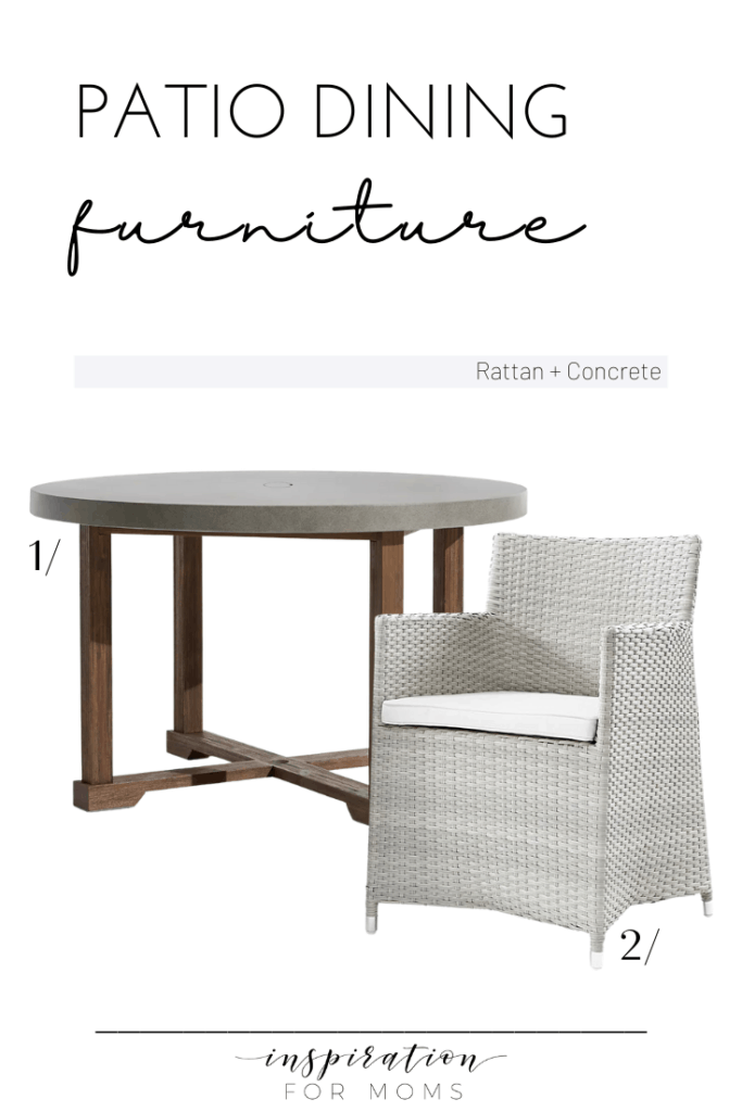 patio dining furniture rattan and concrete combo
