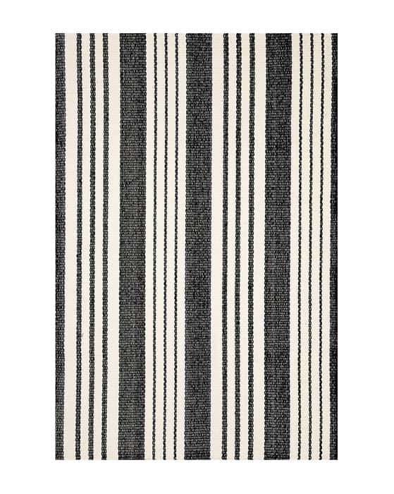 birmingham indoor outdoor rug black and white striped