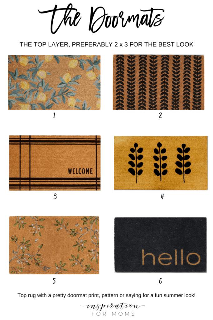 six doormats for layering on front door rugs doormat layering