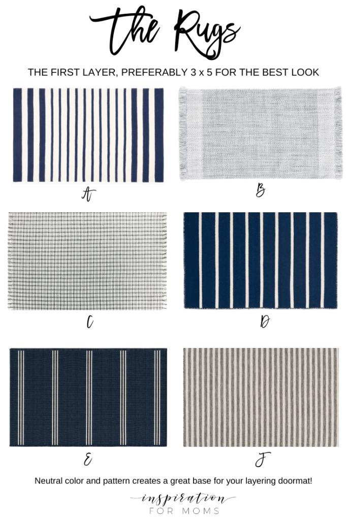 six rugs for layering on front door doormat layering