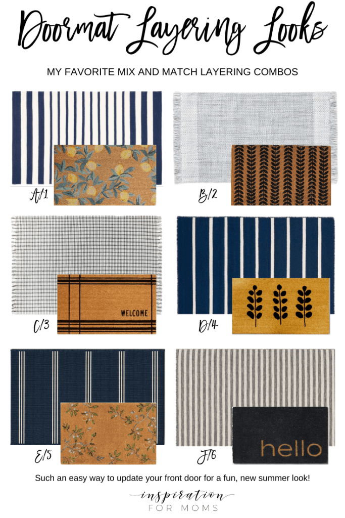 six doormat layered combos for summer
