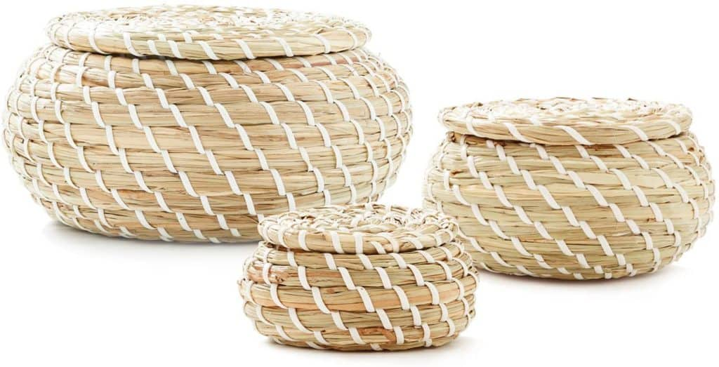 woven seagrass baskets (set of 3)