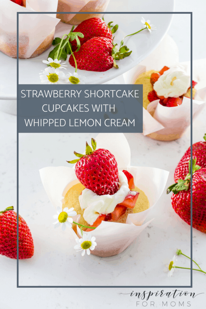 Celebrate the sweetness of summer with these tasty strawberry shortcake cupcakes with a tangy lemon whipped cream. So easy to make and even easier to devour! #strawberryshortcake #strawberry #cupcakes