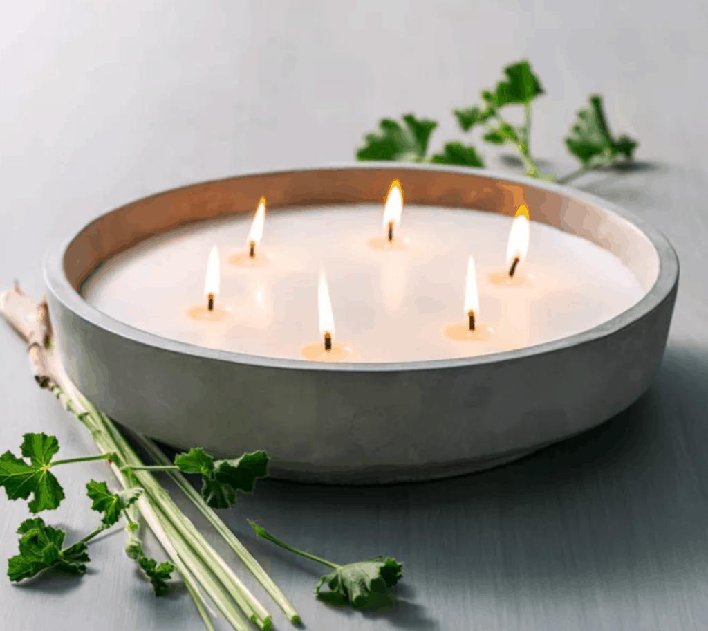 large citronella cement candle