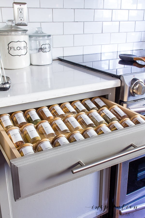 Spice is life! Learn my best spice storage tips - how and where you should store them and how to keep them organized too. #spicestorage