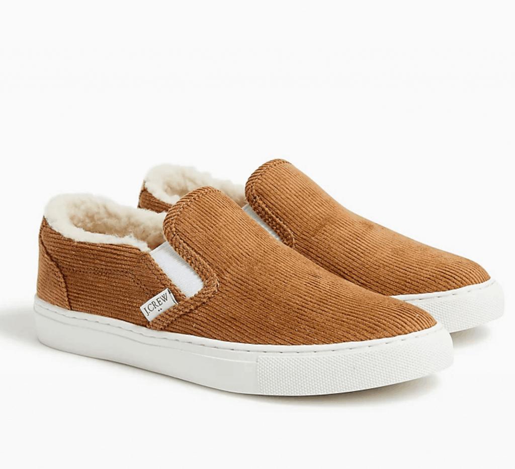 corduroy slip on sneakers