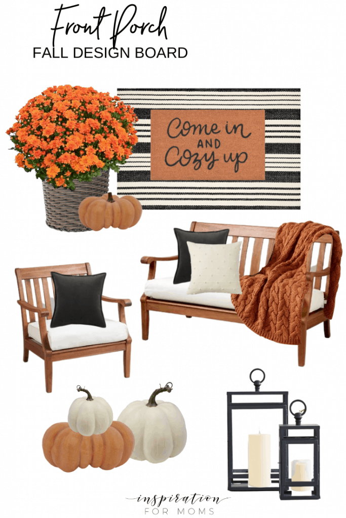 Get inspired to get your home decorated for fall with my fall home decorating design boards! #falldecoratingdesignboards #falldecorating #fall