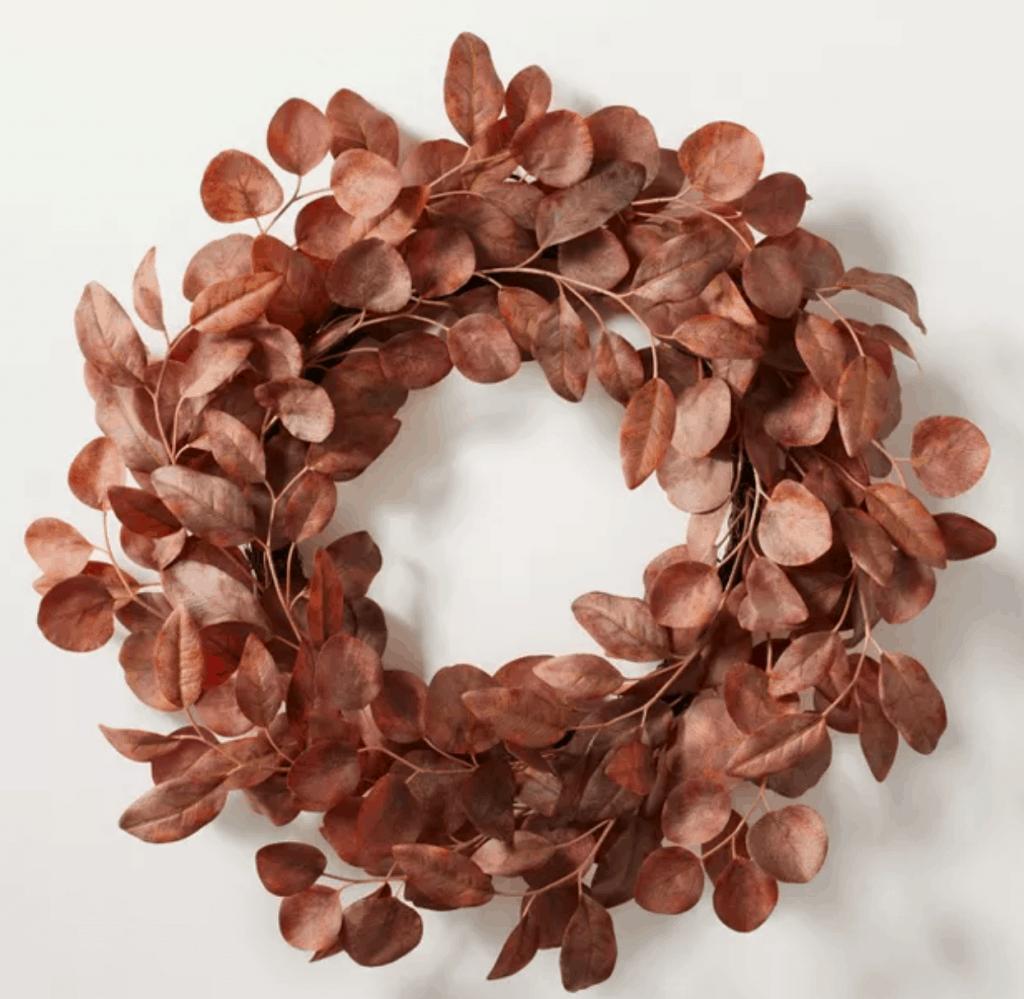fall rustic eucalyptus wreath