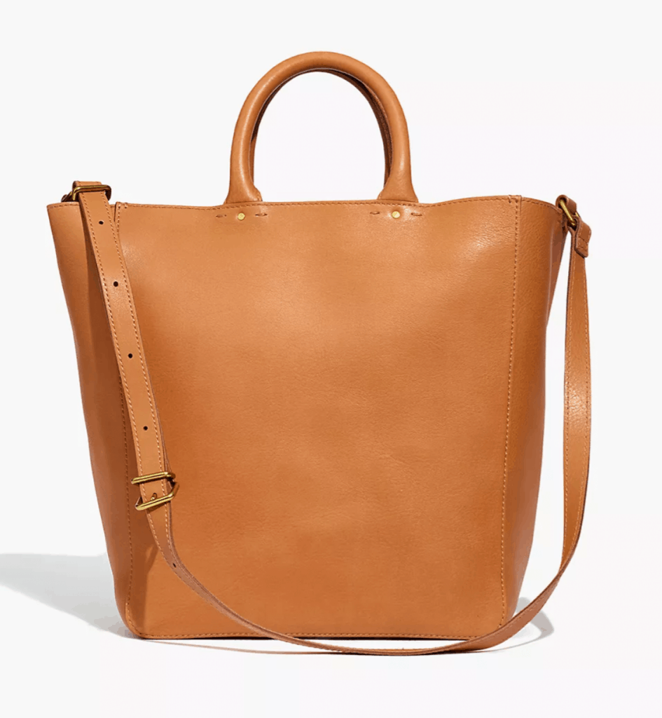 abroad tote in leather