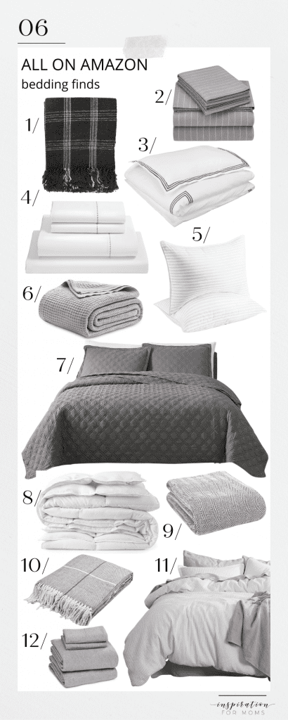 The seasons are changing so now is great time to look at some fabulous bedding to make your bed the coziest! #bedding #allonamazon